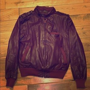 Vintage members only leather bomber jacket 46